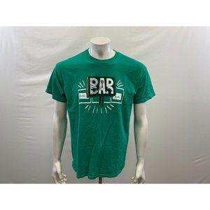 Men's Green Funny Corky Bar Bar Bar Slots & Casino